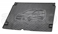 Kofferraummatte Gummi für Citroen Berlingo Multispace/Peugeot Partner Tepee ab 6/2008-7/2018