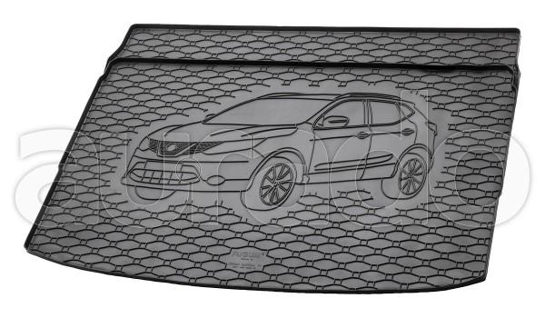 Kofferraummatte Gummi für Nissan Qashqai II ab 2/2014-5/2021